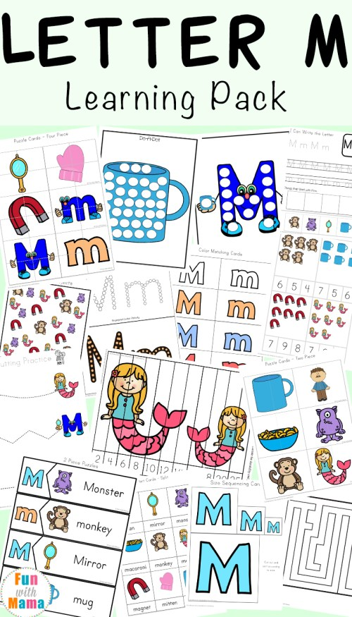 small resolution of Letter M Worksheets - Fun with Mama