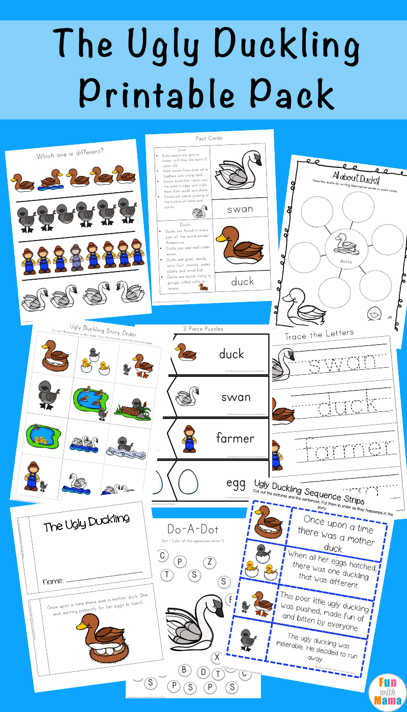 medium resolution of The Ugly Duckling Printables Pack - Fun with Mama