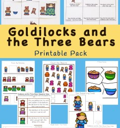 Goldilocks And The Three Bears Printable Pack - Fun with Mama [ 1400 x 800 Pixel ]