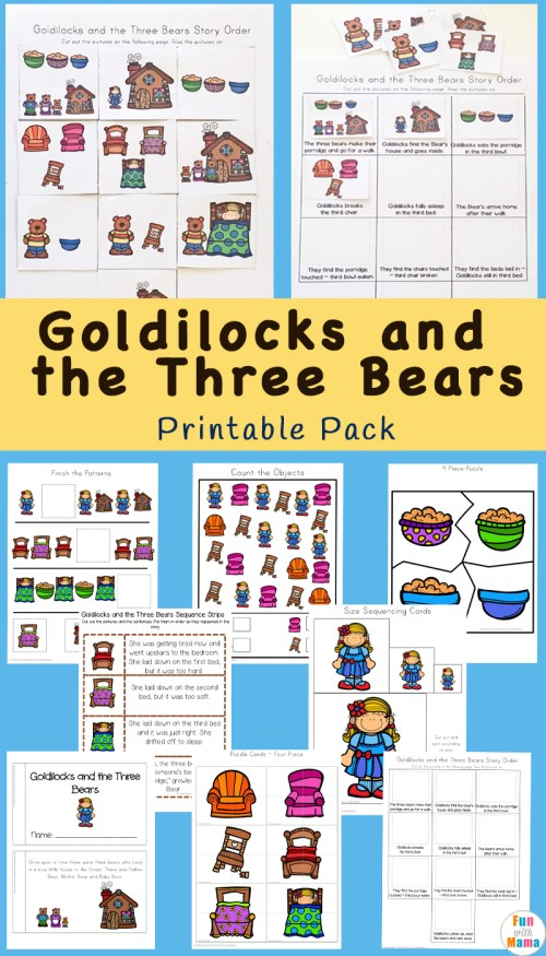 small resolution of Goldilocks And The Three Bears Printable Pack - Fun with Mama