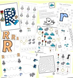 Letter R Worksheets and Printable Preschool Activities Pack - Fun with Mama [ 1400 x 800 Pixel ]