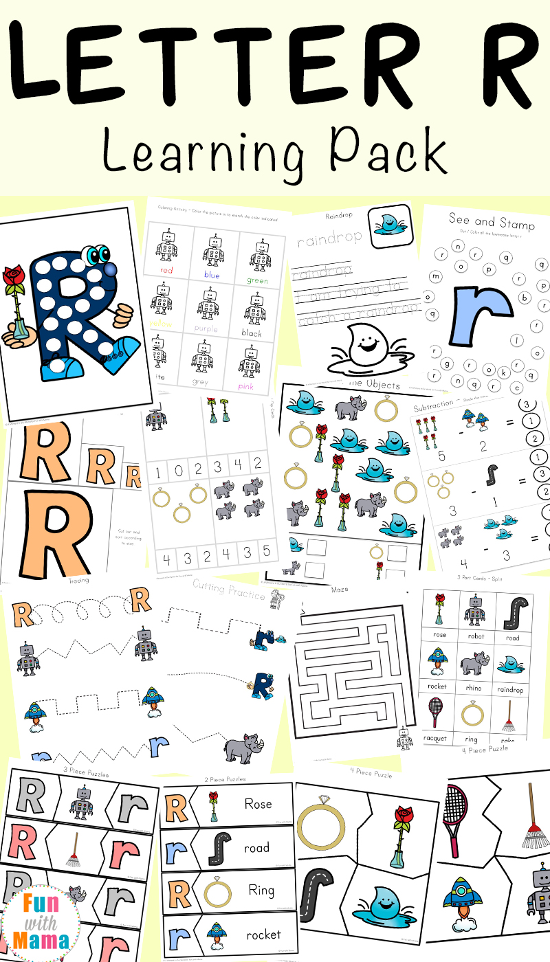 hight resolution of Letter R Worksheets and Printable Preschool Activities Pack - Fun with Mama