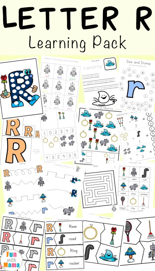 small resolution of Letter R Worksheets and Printable Preschool Activities Pack - Fun with Mama