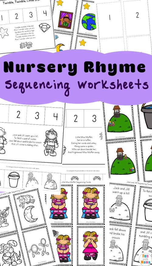 small resolution of Free Nursery Rhymes Sequencing Activities - Fun with Mama