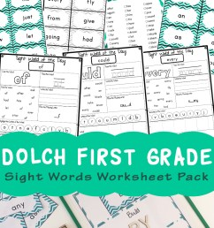 Dolch First Grade Sight Words Worksheets - Fun with Mama [ 1400 x 800 Pixel ]