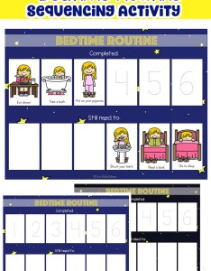 Kids schedule toddler bedtime routine chart also sequencing activity fun with mama rh funwithmama
