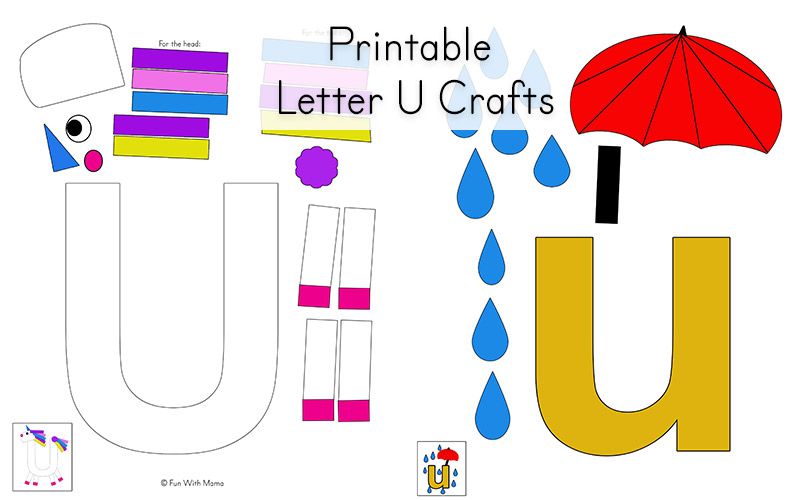Letter u art activities for preschoolers poemdocor letter u worksheets for preschool kindergarten pack fun with mama ibookread