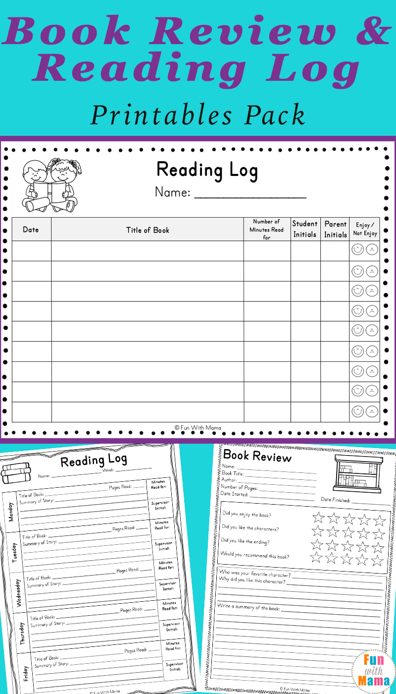 hight resolution of Reading Log PDF and Book Report Templates - Fun with Mama