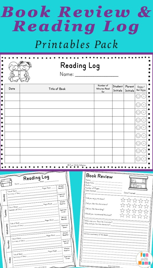 small resolution of Reading Log PDF and Book Report Templates - Fun with Mama
