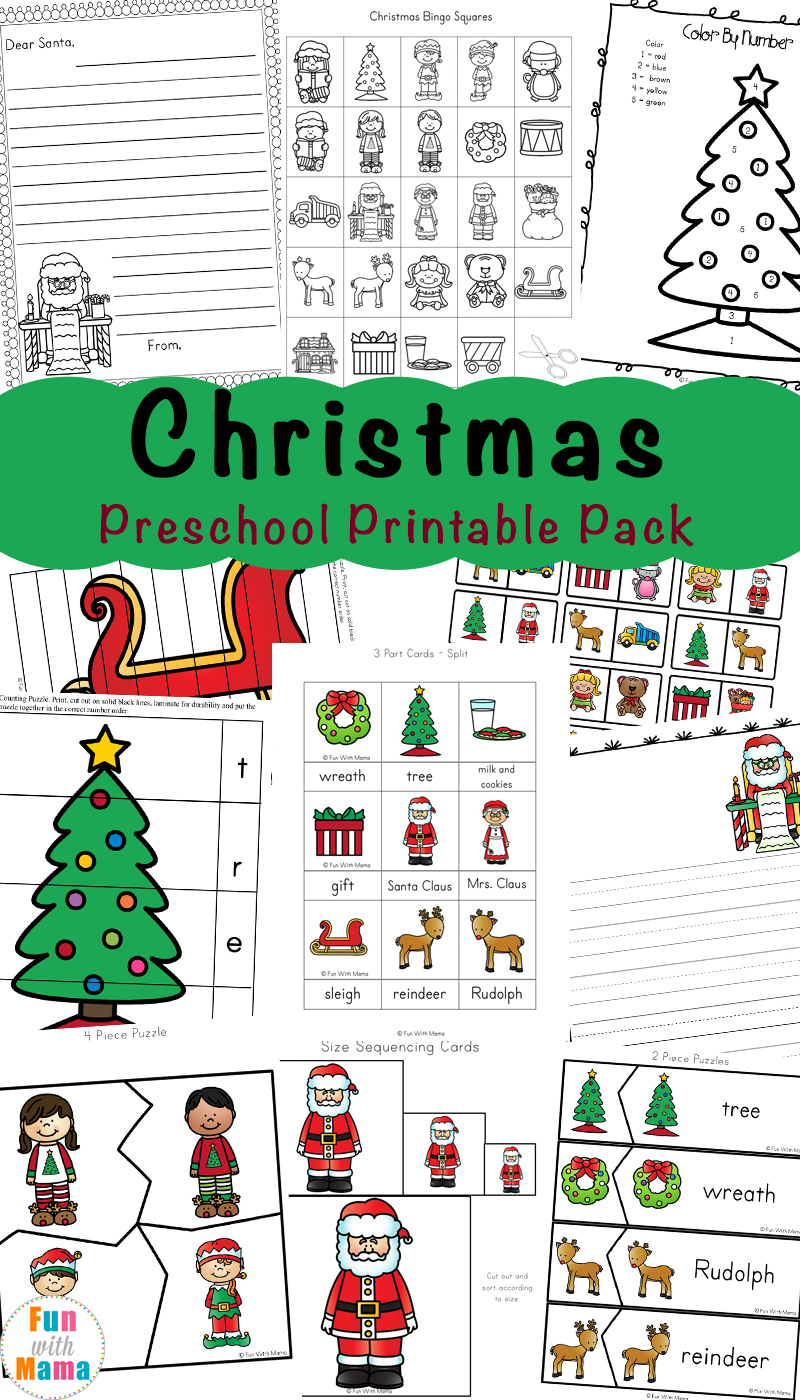 hight resolution of Free Printable Christmas Worksheets - Fun with Mama