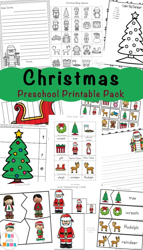 small resolution of Free Printable Christmas Worksheets - Fun with Mama