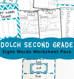 Dolch Second Grade Sight Words - Fun with Mama [ 1400 x 800 Pixel ]
