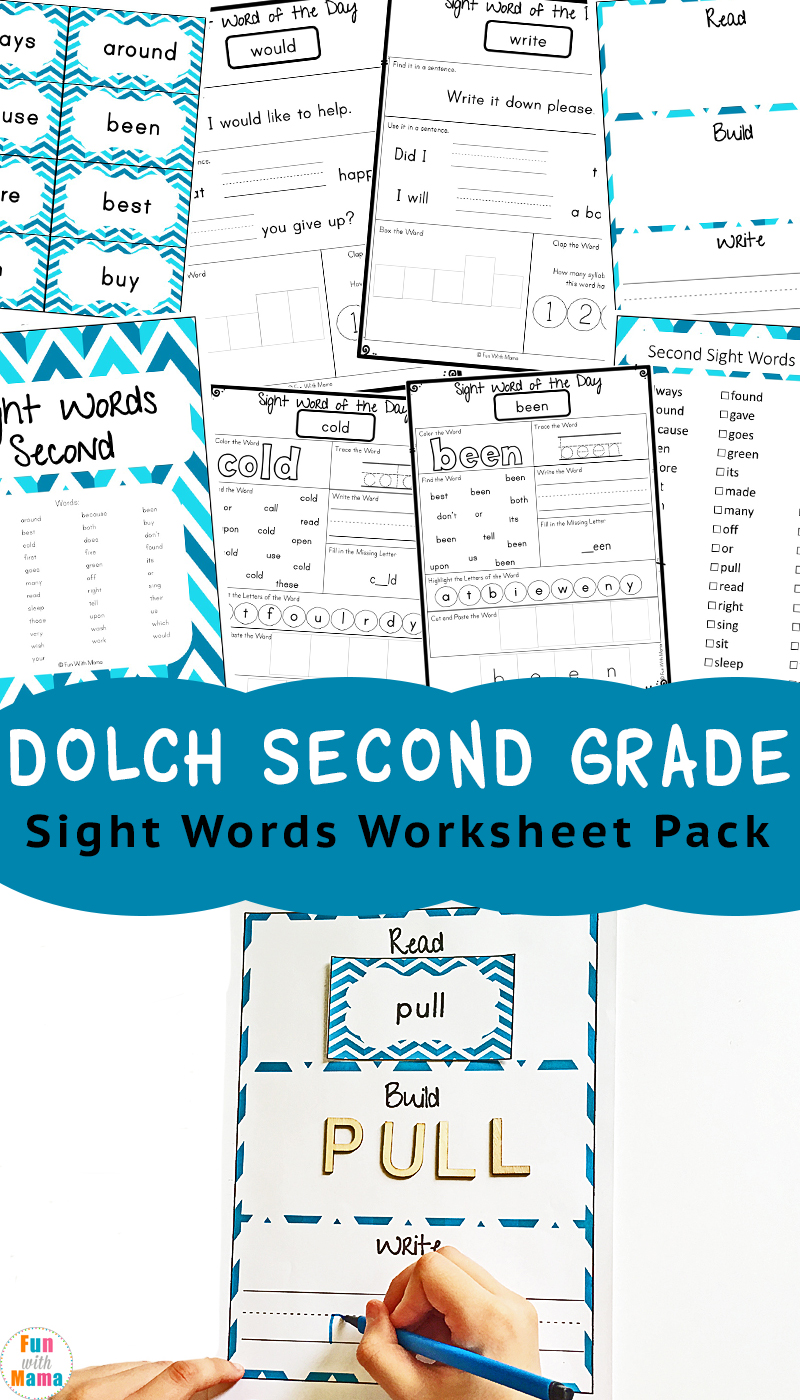 medium resolution of Dolch Second Grade Sight Words - Fun with Mama