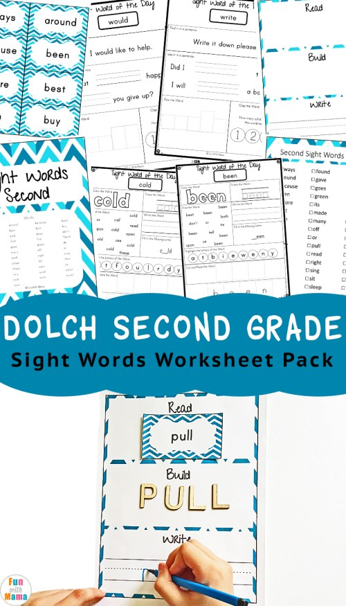 small resolution of Dolch Second Grade Sight Words - Fun with Mama