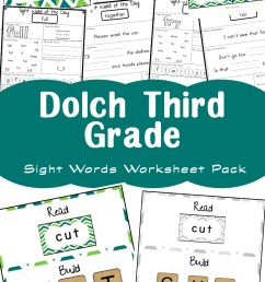 Free Dolch Third Grade Sight Words Worksheets - Fun with Mama [ 1400 x 800 Pixel ]