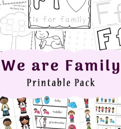 Family Theme Preschool and Family Worksheets For Kindergarten - Fun with  Mama [ 1400 x 800 Pixel ]