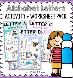 Free Alphabet ABC Printable Packs - Fun with Mama [ 1000 x 1000 Pixel ]