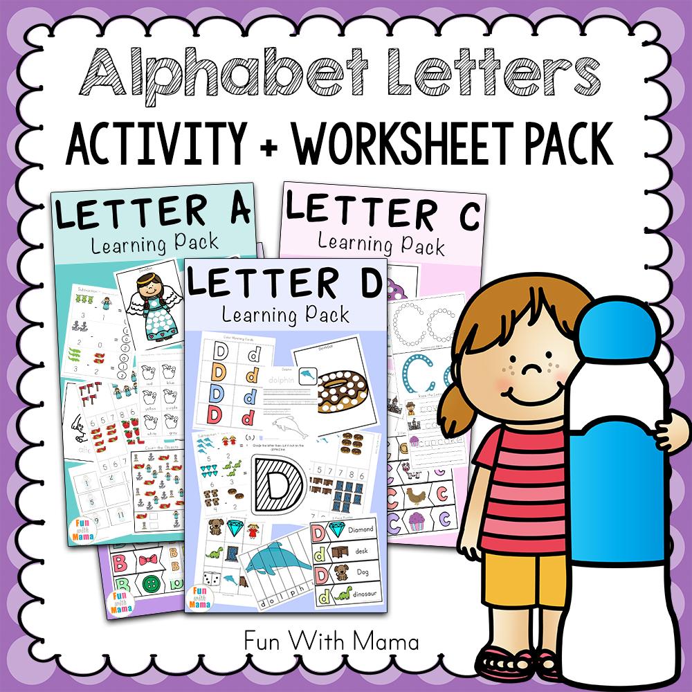 medium resolution of Free Alphabet ABC Printable Packs - Fun with Mama