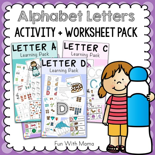 small resolution of Free Alphabet ABC Printable Packs - Fun with Mama