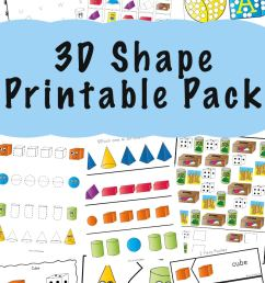 3D Shape Worksheets - Fun with Mama [ 1400 x 800 Pixel ]