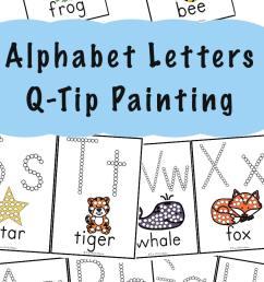 Alphabet Printables Q-Tip Painting - Fun with Mama [ 1400 x 800 Pixel ]