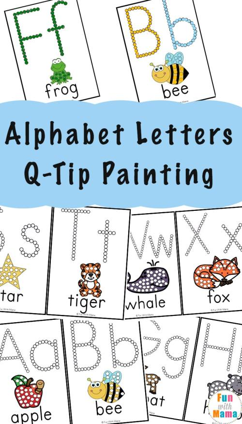 small resolution of Alphabet Printables Q-Tip Painting - Fun with Mama