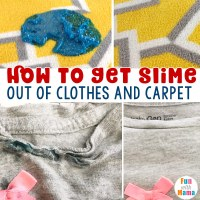 How To Get Slime Out of Clothes And Carpet - Fun with Mama