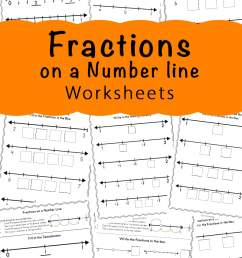 Fractions On A Number Line Worksheets - Fun with Mama [ 1400 x 800 Pixel ]