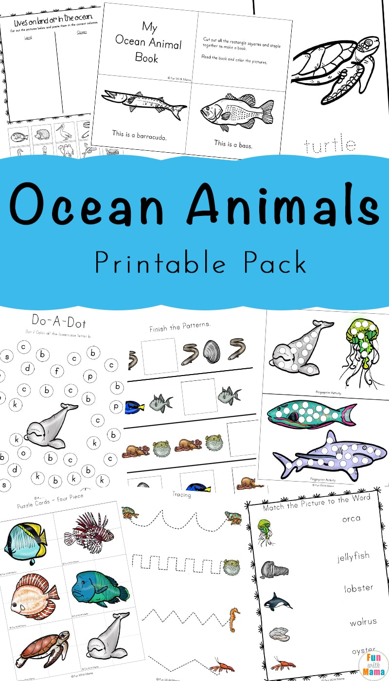hight resolution of A Super Fun Ocean Animals Printable Pack For Kids