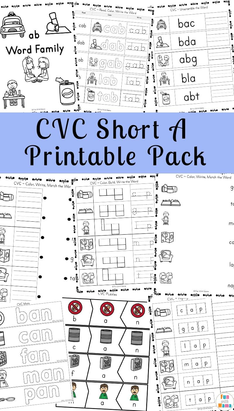 hight resolution of Short A Worksheets CVC Words