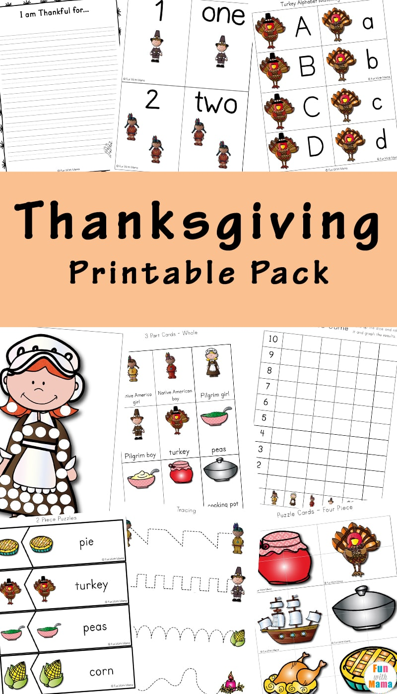medium resolution of A Thanksgiving Printable Pack For Learning History \u0026 More!