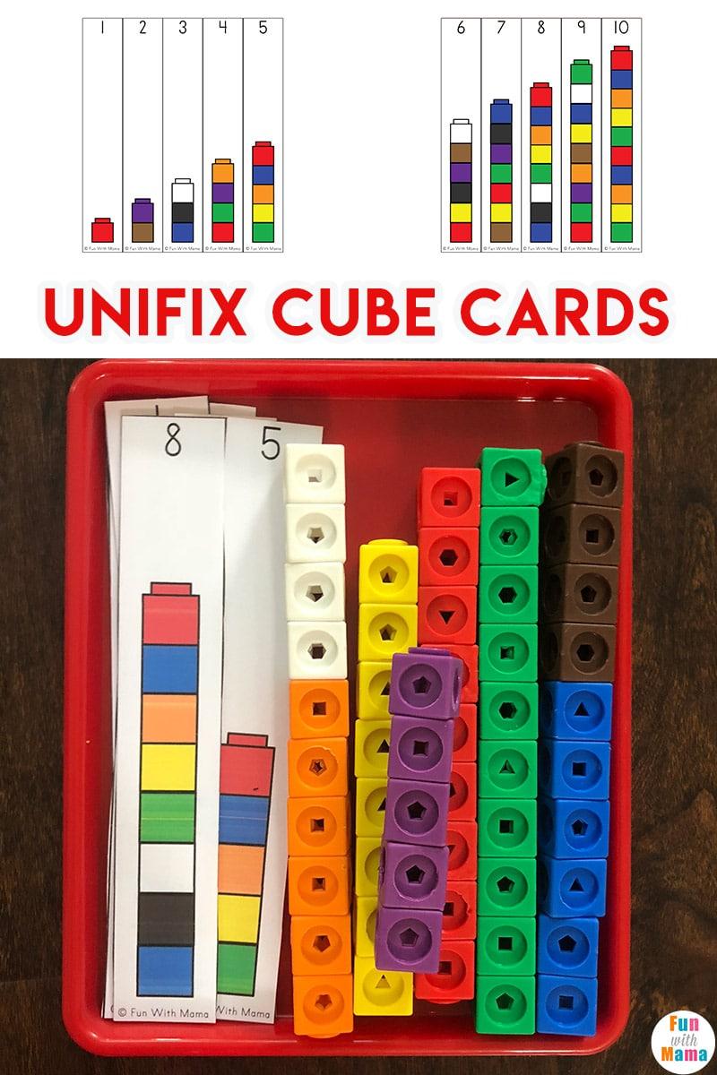 medium resolution of Unifix Cubes For Preschool Math - Fun with Mama