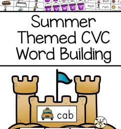 Summer Themed CVC Word Building - Fun CVC Words Worksheets - Fun with Mama [ 1400 x 800 Pixel ]