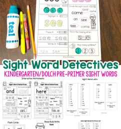 Pre K Sight Words Worksheets - Fun with Mama [ 1200 x 800 Pixel ]
