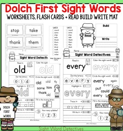 First Grade Sight Words - Interactive Worksheets for Learning - Fun with  Mama [ 1000 x 1000 Pixel ]