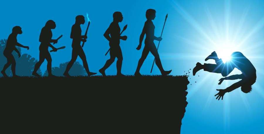 Des chercheurs de l'université de Naples (Italie) estiment que les changements climatiques passés ont eu raison de plusieurs espèces du genre Homo. Une découverte inquiétante au moment où «notre propre espèce scie, avec le réchauffement climatique anthropique, la branche sur laquelle elle est assise». © pict rider, Adoce Stock