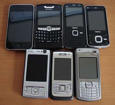 Différents smartphones. © ALT1040, CC by-sa 2.0