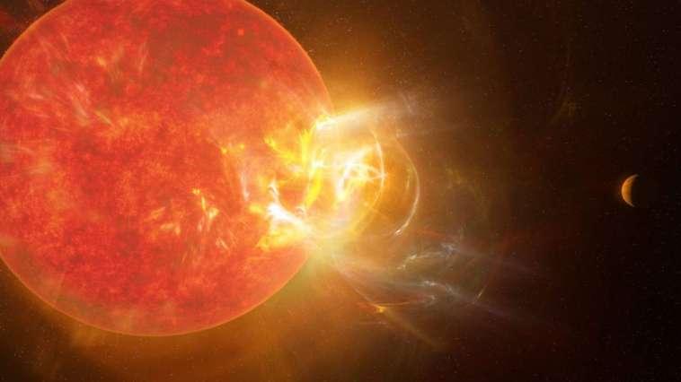 L'exoplanète la plus proche de la Terre a été frappée par une éruption stellaire record