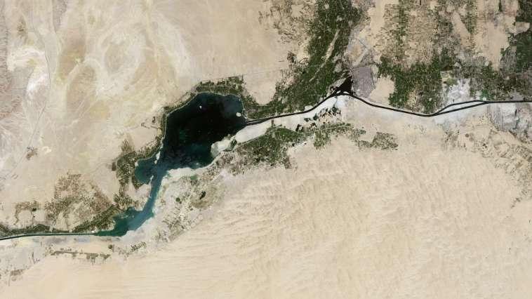 Le canal de Suez vu par Thomas Pesquet