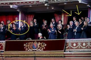 Meghan Markle and Prince Harry at the royal gala