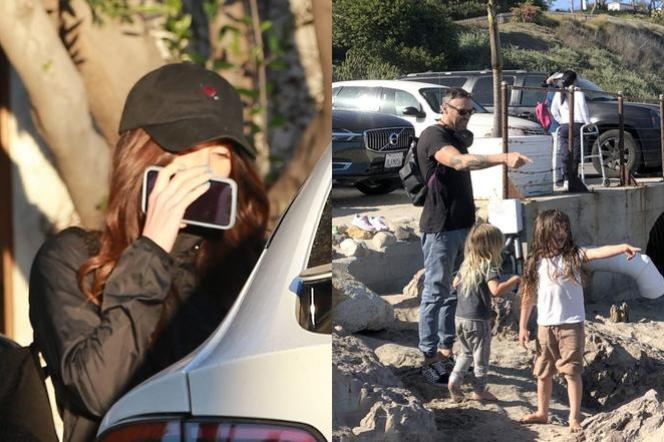 Megan Fox and Brian Austin Green with the kids