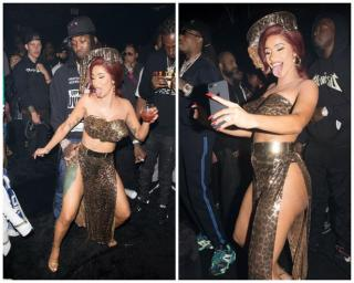 Cardi B and Quavo at the party
