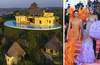 Kylie and Kendall Jenner;  villa in mexico