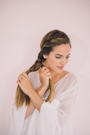twisted side braid tutorial - gal