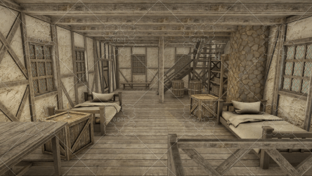 HQ Modular Fantasy House GameDev Market
