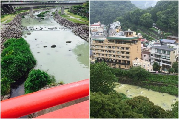 日本Twitter多圖 箱根河流變黃色   GameOver HK