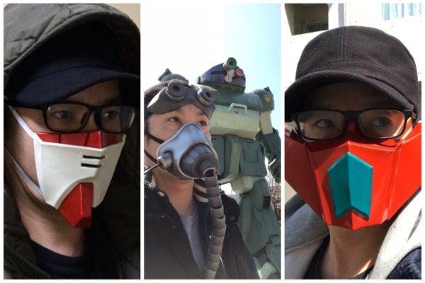 日本模型高手戴口罩不失霸氣 變身高達/三一萬能俠/裝甲騎兵 ...