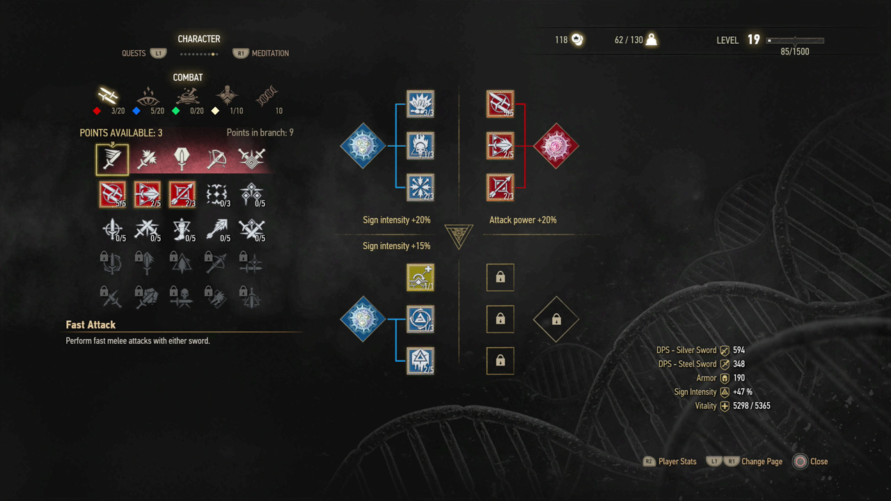 The Witcher 3 How To Use Skills Signs And Magic USgamer