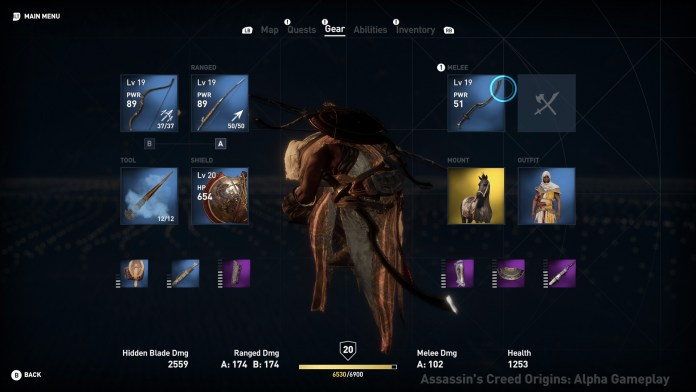 Assassin's Creed Origins Inventory