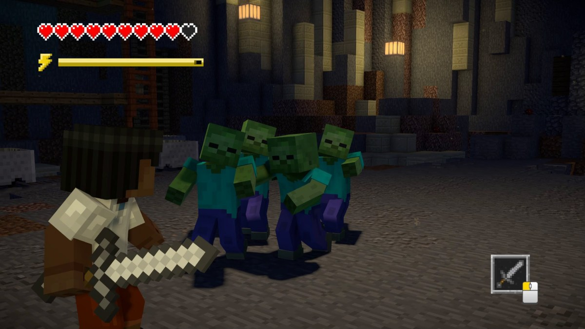 Image result for minecraft telltale season 2 combat